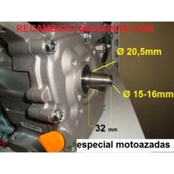 Motor motoazada mula salida CONICA compatible honda gx 200