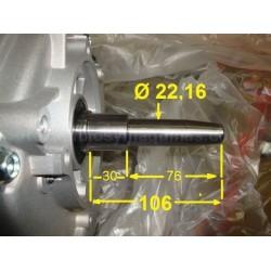 cigueñal honda gx 390 generador  conico 106 mm cónico ciguenal
