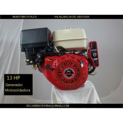 Motor Generador motosoldadora ARRANQUE ELECTRICO 13 HP suzuki v420 ew 200 csh gsh dgh 220 ayerbe ay 235 meccalte  Honda Gx 390