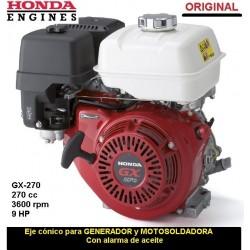 Motor Honda GX 270 ORIGINAL Eje CONICO GENERADOR MOTOSOLDADORA