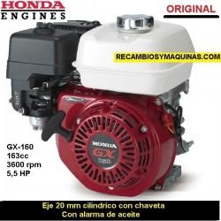 Motor Honda GX 160 ORIGINAL Eje 20 cilindrico con chaveta ALARMA DE ACEITE