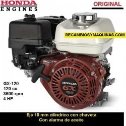 Motor Honda GX 120 ORIGINAL Eje 18