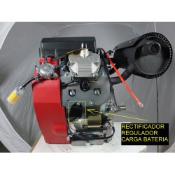Rectificador Regulador Motor OHV gasolina 2 cilindros 20 22 HP replica Honda gx 620 630 kipor kama kohler miparts basic