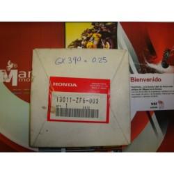 Segmentos Piston HONDA GX 390 a 0.25 SEGMENTO aro arillo