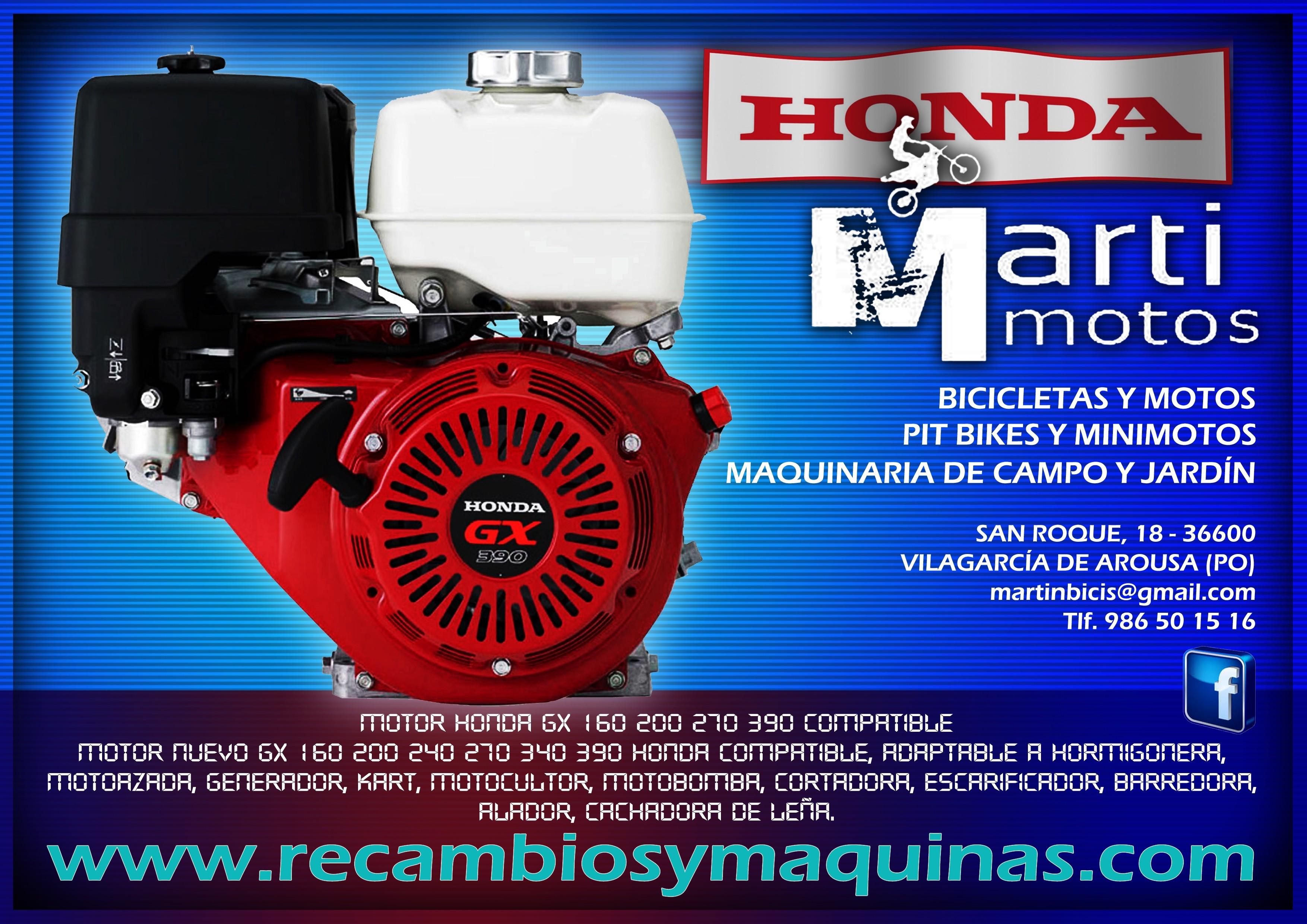 Motores Honda Gx compatibles